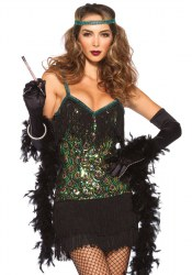 Leg Avenue Karneval Damen Kostüm Flapper Pfau