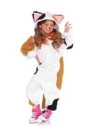Leg Avenue Karneval Kinder Kostüm Calico Katze Onesie