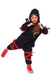 Leg Avenue Karneval Halloween Kinder Kostüm Ninja Onesie