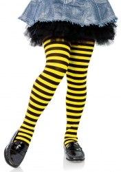 Leg Avenue Kinder Strumpfhose schwarz-gelb gestreift