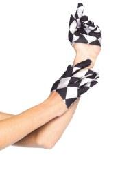 Leg Avenue Mini Handschuhe Harlekin