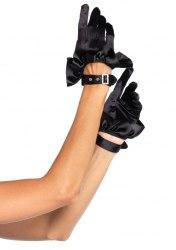 Leg Avenue Mini Handschuhe Satin mit Rüschen