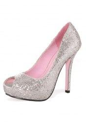 Leg Avenue Karneval Schuhe Ella silber