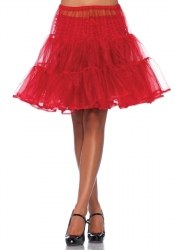 Leg Avenue knielanger Damen Organza Petticoat Farbwahl