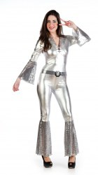 Limit Karneval Damenkostüm Disco Diva Silber