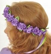 Lovely Lea Kopfschmuck Haarkranz Violett Princess