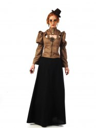 LIMIT SPORT Damen Steampunk Jacke in Lederoptik