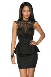 Party Damen Kleid Vintage mit Spitzeneinsatz