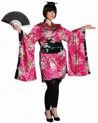 Rubies Karneval Damen Kostüm Fullcut Geisha pink