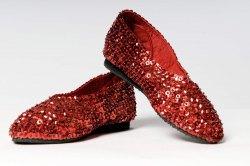 Schuhe BALLERINAS paillettenbesetzt rot