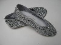 Schuhe BALLERINAS paillettenbesetzt silber