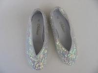 Schuhe BALLERINAS paillettenbesetzt weiss