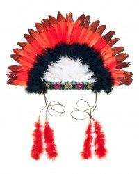 Souza Karneval Indianer Kopfschmuck Kinder rot-schwarz