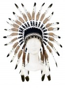 Souza Karneval Indianer Kopfschmuck Kinder Ituha schwarz weiß
