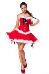 Weihnachten Damen Kostüm Miss Santa
