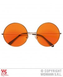 Widmann Karneval 70er Hippie-Brille orange