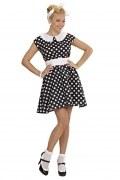 Widmann Karneval Damen Kostüm 50er Jahre Kleid schwarz