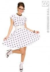 Widmann Karneval Damen Kostüm 50er Jahre Kleid weiß