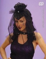 Widmann Karneval Halloween Damenperücke Dark Mistress