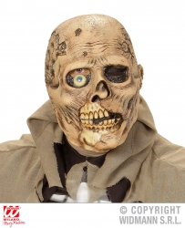 Widmann Karneval Halloween Latex Maske Einäugiger Zombie