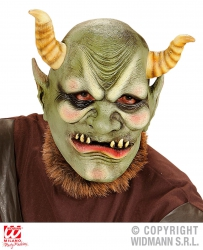 Widmann Karneval Halloween Latex Maske Evil Orc
