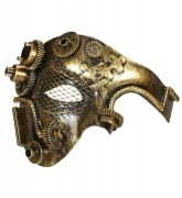 Widmann Karneval Steampunk Maske asymmetrisch Farbwahl