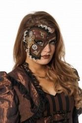 Wilbers Karneval Halb-Maske Steampunk
