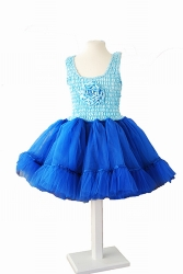 MINISA Mädchen Kostüm Ballerina FLOWER blau