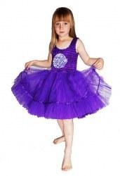 MINISA Mädchen Kostüm Ballerina Flower Purple