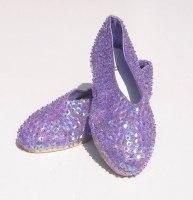Schuhe BALLERINAS mit Pailletten besetzt lila