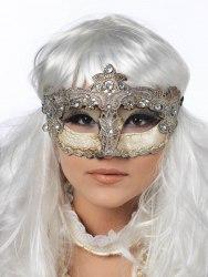 Limit Venezianische Damen Maske silber