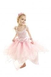 Minisa Mädchen Kostüm Prinzessin Star Day Pink Flower