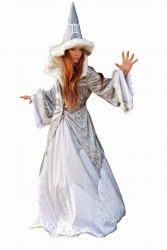 Limit Karneval Damen Kostüm Schneekönigin Zauberin