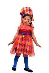 LIMIT Karneval Baby Kostüm Clown Regenbogen Harlekin