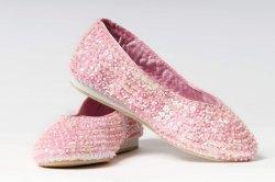 Schuhe BALLERINAS paillettenbesetzt rosa